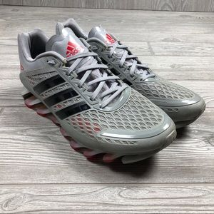 Adidas Springblade gray red running shoes 10 Q42